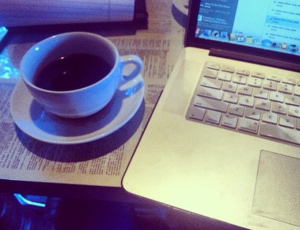 Coffee and a keyboard... get it?
